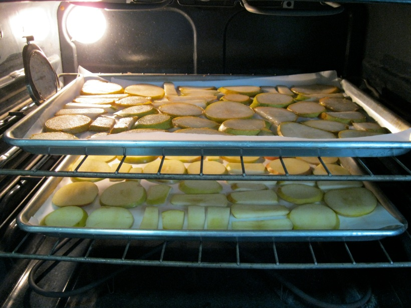Pears in oven