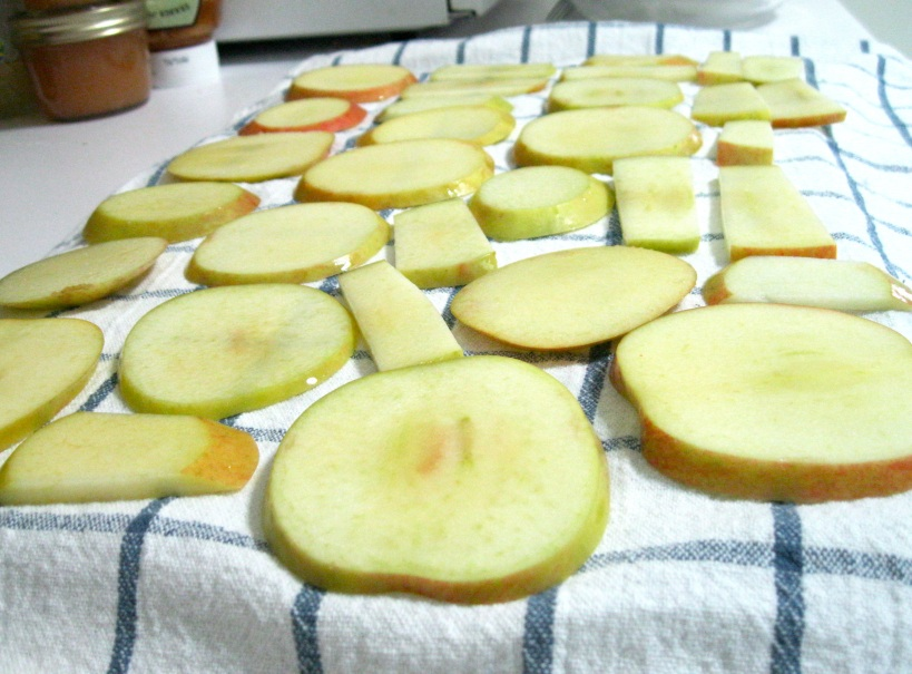 Pat fruit dry with a towel to remove excess moisture.