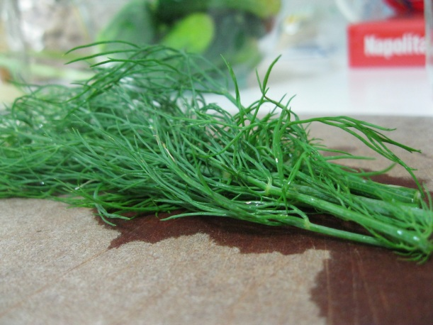I didn't have dill seeds, which the recipe called for, but I did have fresh dill. I'm curious to try it with the seeds to see how it alters the flavor.