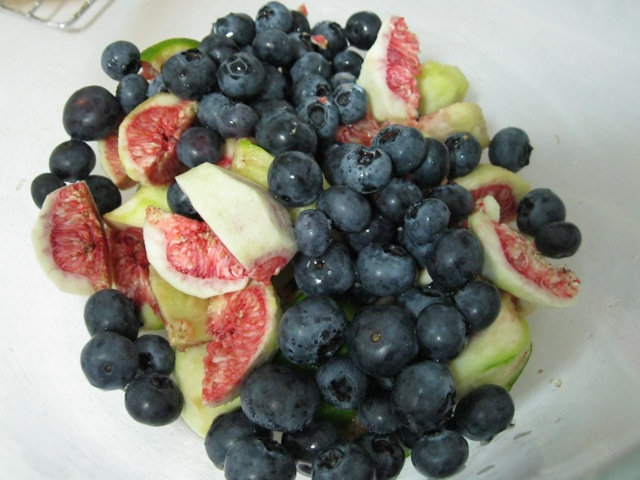 Raw blueberries and figs. Beautiful!