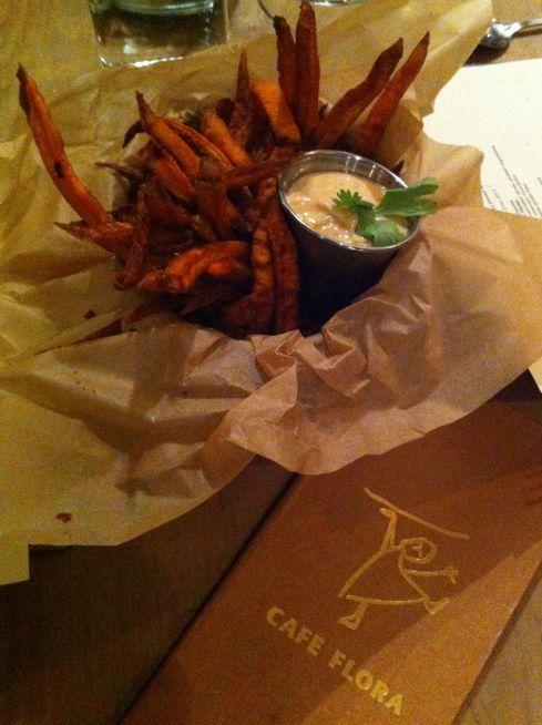 Yam fries with cayenne aioli, fantastic.