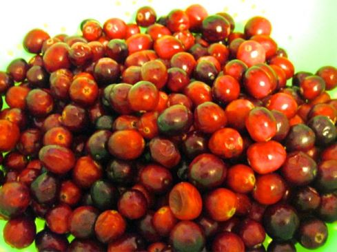 Cranberries. You can probably find some on sale now that Thanksgiving is over.