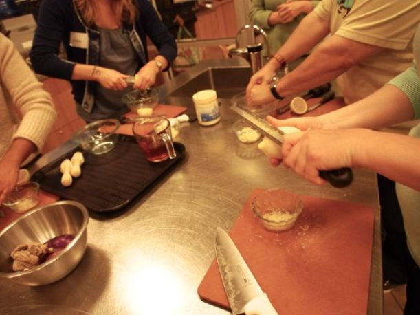 Many hands make light the work, and make cooking a lot more fun.
