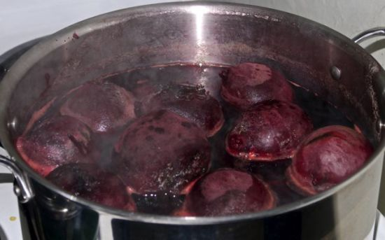 Cooking the beets. 7 pounds of beets is a lot!